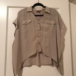Left on Houston Silk Button Down